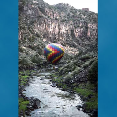Ballooning in the Rio Grande Gorge, Taos, New Mexico