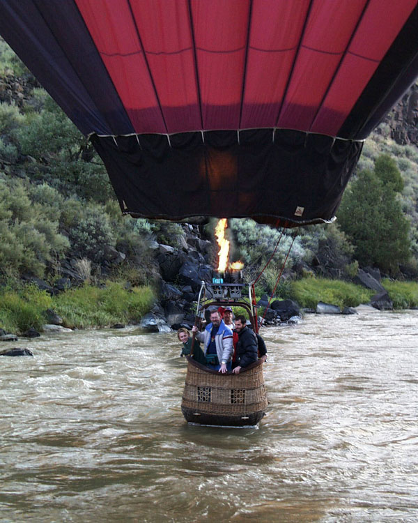 touching down in the Rio Grande Gorge, Taos, NM