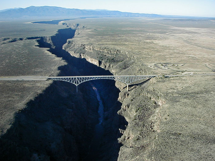 Floating over the Rio Grande Gorge Bridge