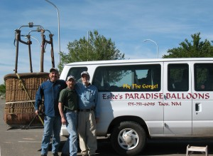 Crew Casey & Kory, and pilot Ken Eske